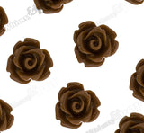 BROWN 10mm Rose Flower Cabochons - WhimsyandPOP
