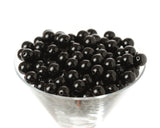 BLACK 12mm Solid Gumball Beads - WhimsyandPOP