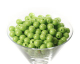 LIME GREEN 12mm Solid Gumball Beads - WhimsyandPOP