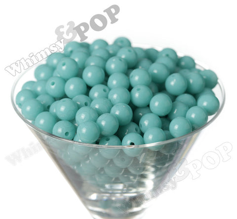 LIGHT TURQUOISE 12mm Solid Gumball Beads - WhimsyandPOP
