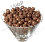 MOCHA BROWN 12mm Solid Gumball Beads - WhimsyandPOP