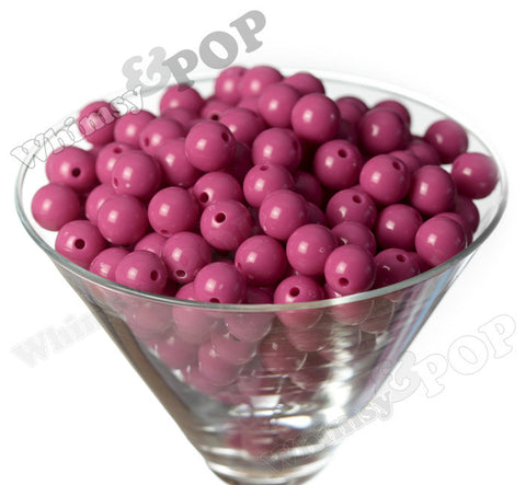 WATERMELON PINK 12mm Solid Gumball Beads - WhimsyandPOP
