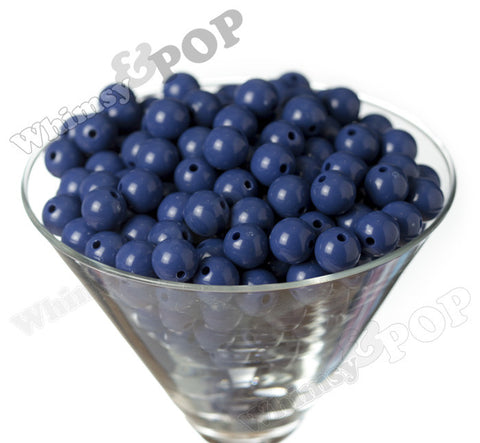 ROYAL BLUE 12mm Solid Gumball Beads - WhimsyandPOP
