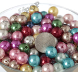 WHITE 12mm Metallic Pearl Gumball Beads - WhimsyandPOP