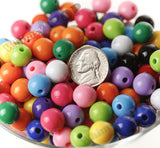 MIXED Color 12mm Solid Gumball Beads