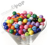 MIXED Color 12mm Solid Gumball Beads - WhimsyandPOP