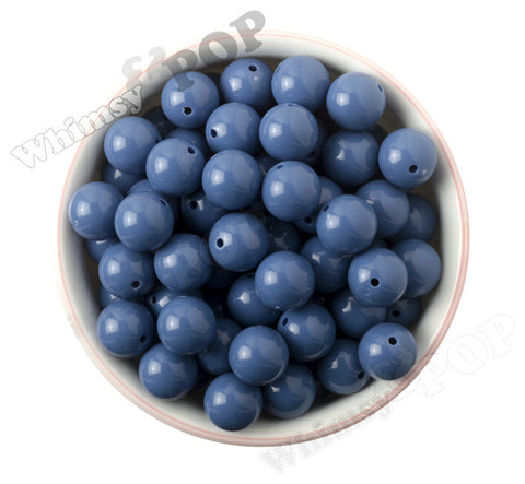 BLUE 16mm Solid Gumball Beads - WhimsyandPOP