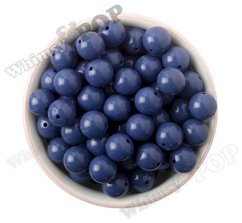 ROYAL BLUE 16mm Solid Gumball Beads