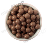 MOCHA BROWN 16mm Solid Gumball Beads - WhimsyandPOP