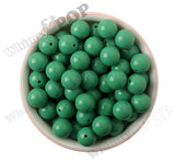 GREEN 16mm Solid Gumball Beads - WhimsyandPOP