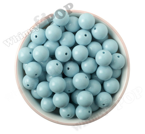 LIGHT BABY BLUE 16mm Solid Gumball Beads - WhimsyandPOP