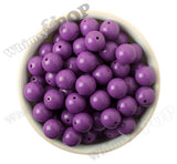PURPLE 16mm Solid Gumball Beads