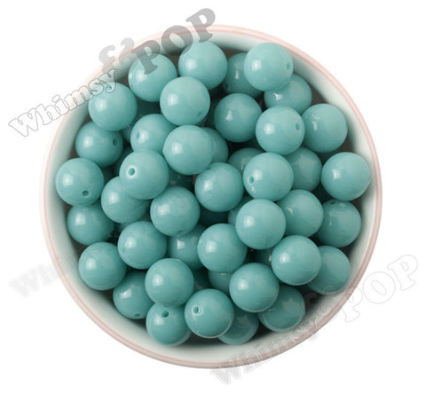 LIGHT TURQUOISE 16mm Solid Gumball Beads - WhimsyandPOP
