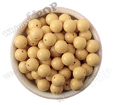 GOLDENROD YELLOW 16mm Solid Gumball Beads - WhimsyandPOP