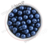 DEEP BLUE 16mm Matte Pearl Gumball Beads - WhimsyandPOP