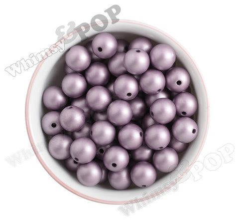 VICTORIAN LILAC 16mm Matte Pearl Gumball Beads - WhimsyandPOP