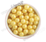 YELLOW 16mm Matte Pearl Gumball Beads - WhimsyandPOP
