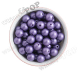 PURPLE 16mm Matte Pearl Gumball Beads - WhimsyandPOP