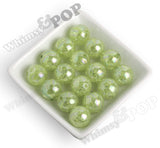 LIME GREEN 20mm AB Crackle Ice Cube Gumball Beads - WhimsyandPOP