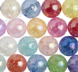 MIXED COLOR 20mm AB Crackle Ice Cube Gumball Beads - WhimsyandPOP