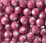 HOT PINK 20mm Heart Gumball Beads - WhimsyandPOP