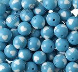 SKY BLUE 20mm Heart Gumball Beads - WhimsyandPOP