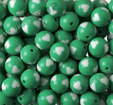 GREEN 20mm Heart Gumball Beads - WhimsyandPOP