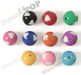 MIXED Color 20mm Heart Gumball Beads - WhimsyandPOP