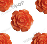 ORANGE 20mm Large Detailed Flower Cabochons - WhimsyandPOP