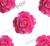 HOT PINK 20mm Large Detailed Flower Cabochons - WhimsyandPOP