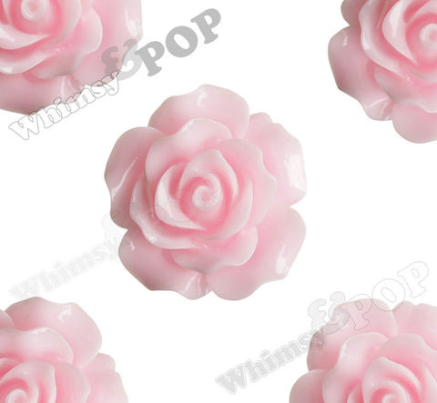 PINK 20mm Large Detailed Flower Cabochons - WhimsyandPOP