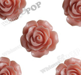 CORAL 20mm Large Detailed Flower Cabochons - WhimsyandPOP