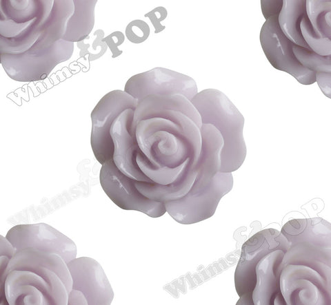 WHISPER PURPLE 20mm Large Detailed Flower Cabochons - WhimsyandPOP