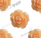 ORANGE SORBET 20mm Large Detailed Flower Cabochons - WhimsyandPOP