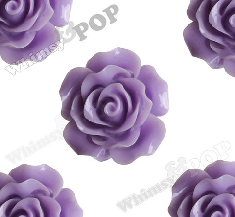 LIGHT PURPLE 20mm Large Detailed Flower Cabochons - WhimsyandPOP