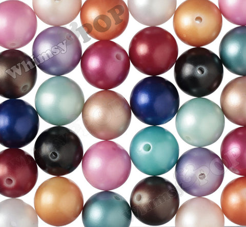 MIXED Color 20mm Matte Pearl Gumball Beads - WhimsyandPOP