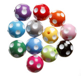 MIXED Color 20mm Polka Dot Gumball Beads - WhimsyandPOP