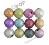 SILVER 20mm Textured Pearl Gumball Beads