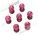 HOT PINK 20mm Transparent Gumball Beads - WhimsyandPOP