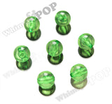 GREEN 20mm Transparent Gumball Beads - WhimsyandPOP