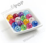 PURPLE 20mm Transparent Gumball Beads - WhimsyandPOP