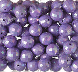 PURPLE 20mm Faceted AB Gumball Beads - WhimsyandPOP
