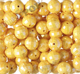 YELLOW 20mm Faceted AB Gumball Beads - WhimsyandPOP