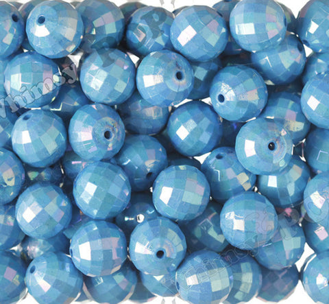 LIGHT BLUE 20mm Faceted AB Gumball Beads - WhimsyandPOP