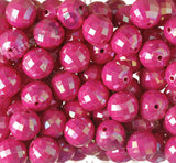 HOT PINK 20mm Faceted AB Gumball Beads - WhimsyandPOP