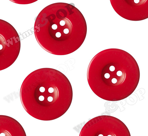 RED 30mm Resin Buttons - WhimsyandPOP