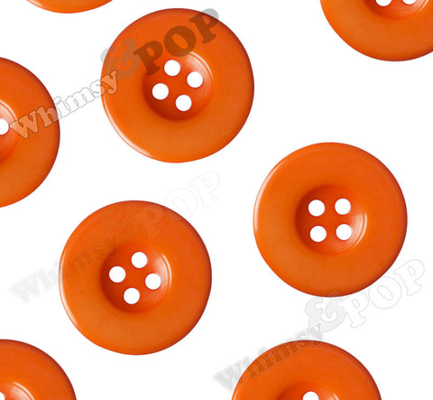 ORANGE 30mm Resin Buttons