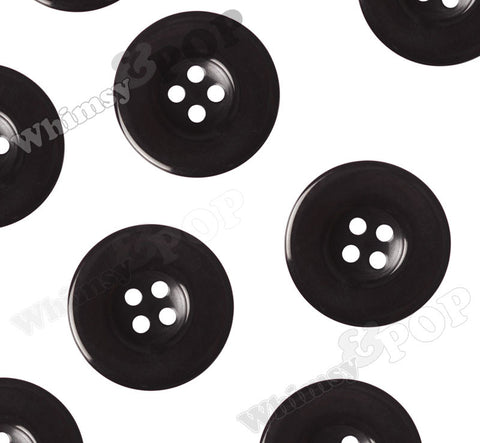 BLACK 30mm Resin Buttons - WhimsyandPOP