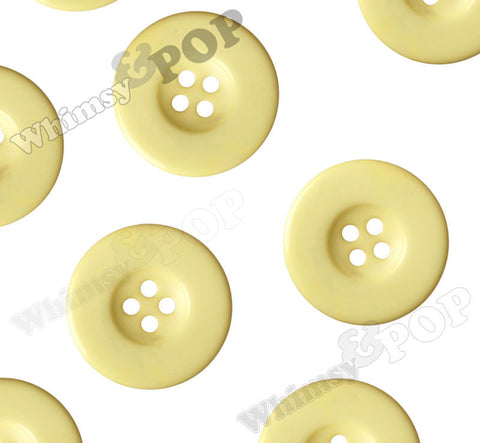 YELLOW 30mm Resin Buttons - WhimsyandPOP