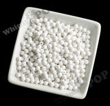 WHITE 6mm Solid Gumball Beads - WhimsyandPOP